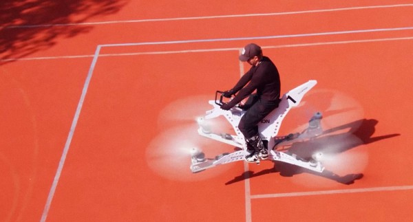 В столице России испытали 1-ый вмире летающий байк
