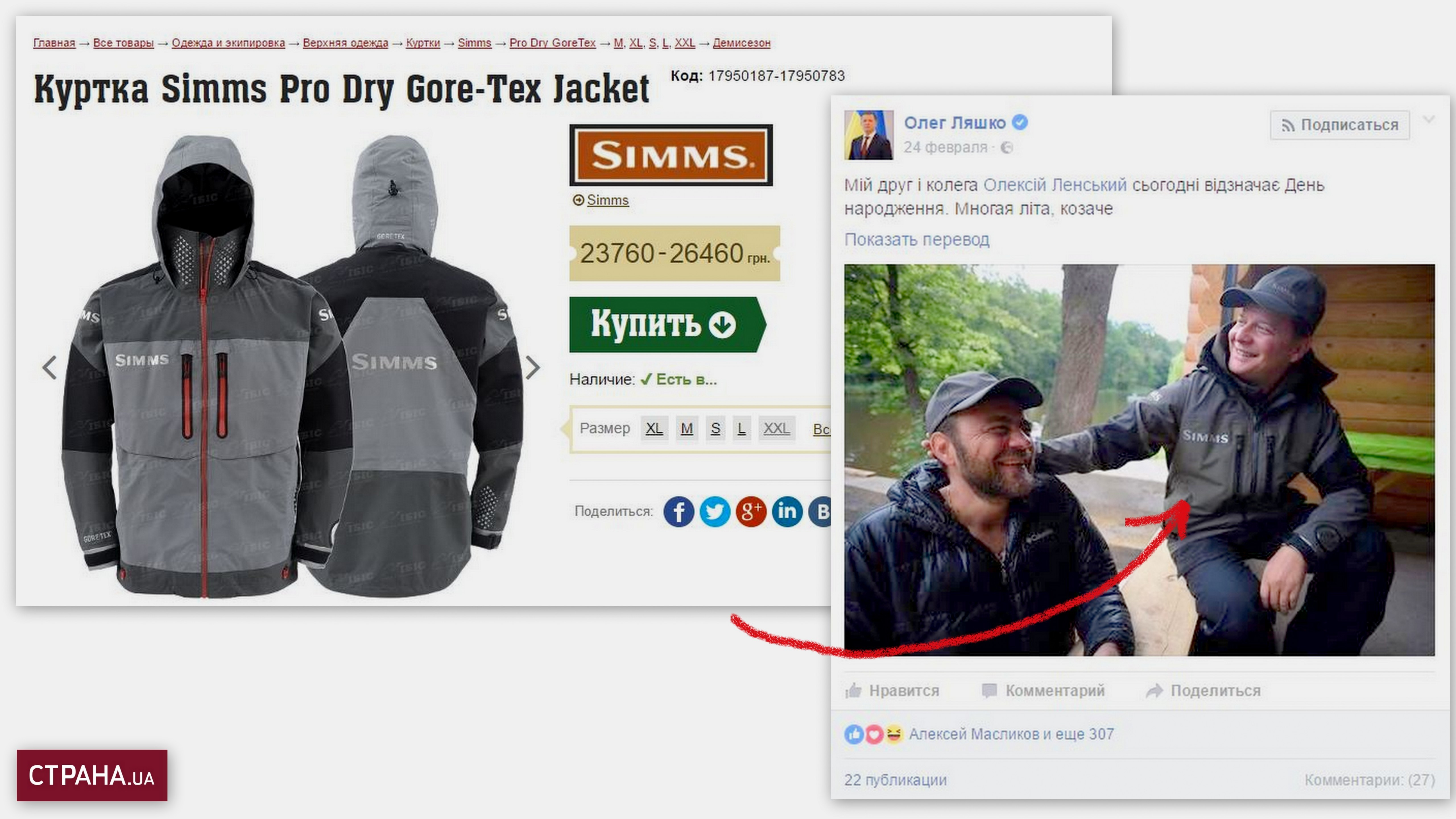 Стоимость куртки
