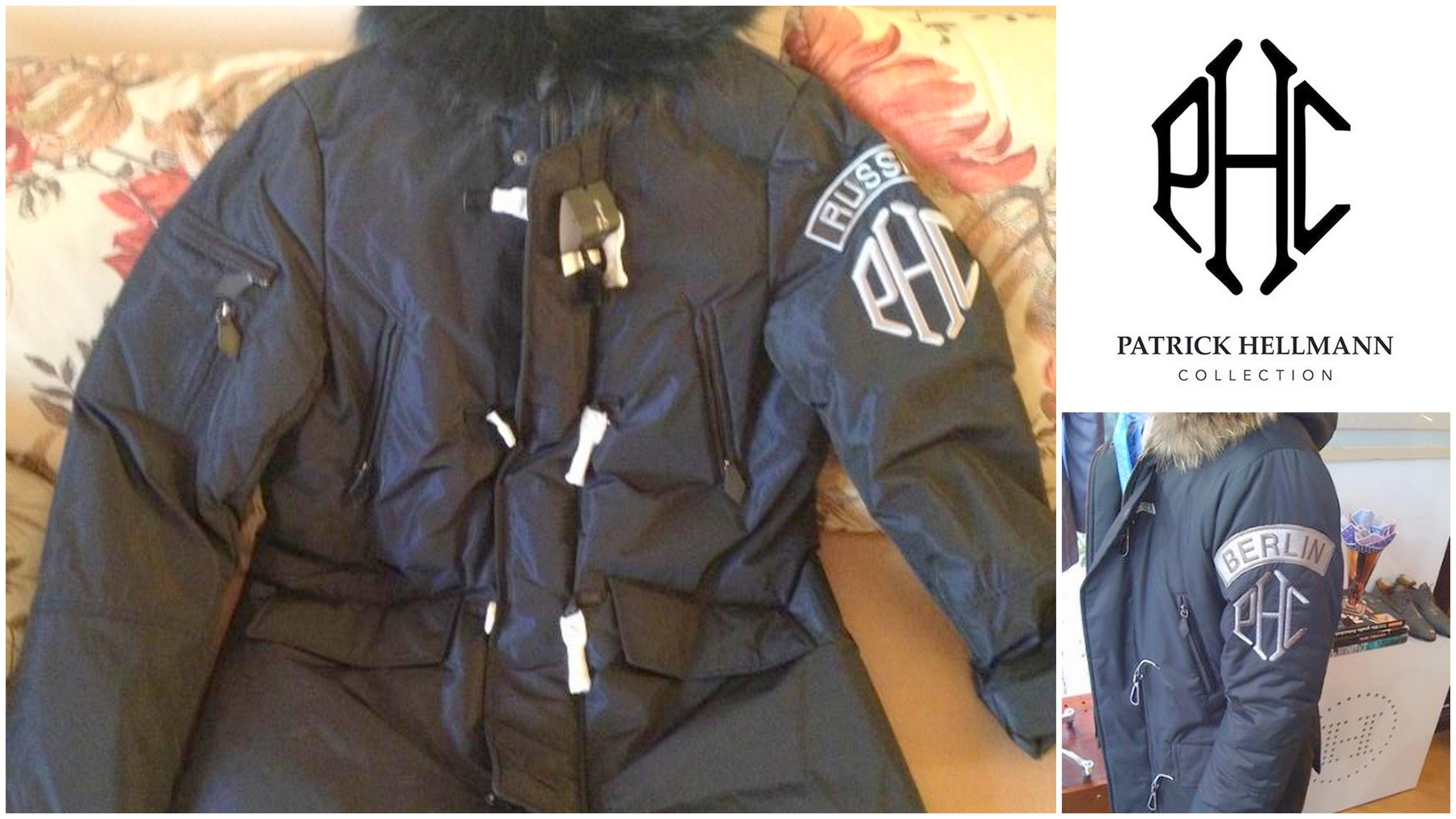 Куртка от Patrick Hellmann c нашивками стран и городов по заказу клиента