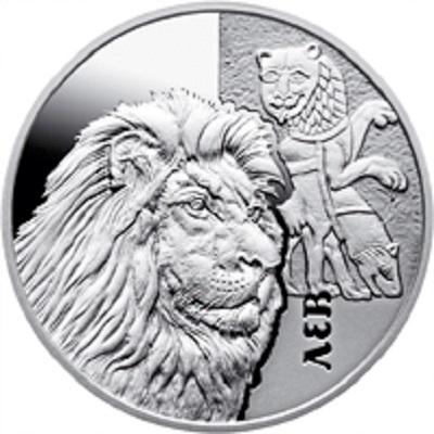 Монета посвящена льву в культуре Киевской Руси