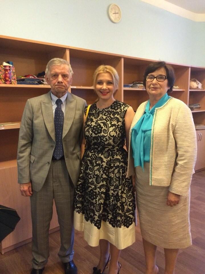Анна Турчинова, жена секретаря СНБО, с родителями