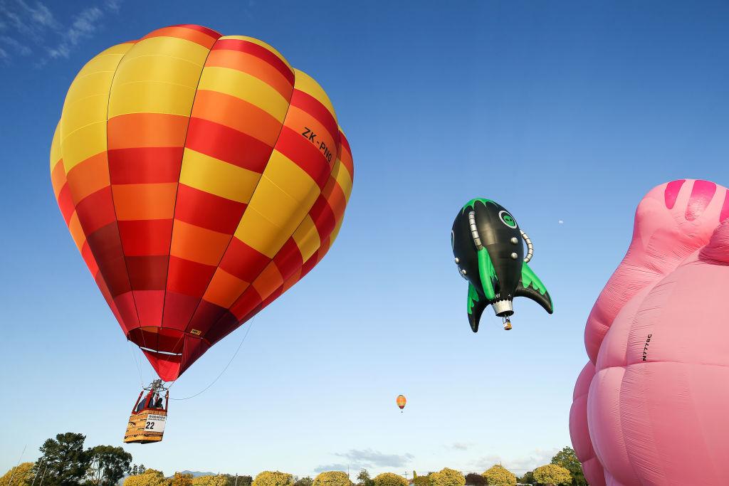 В Веллингтоне любят запускать воздушные шары