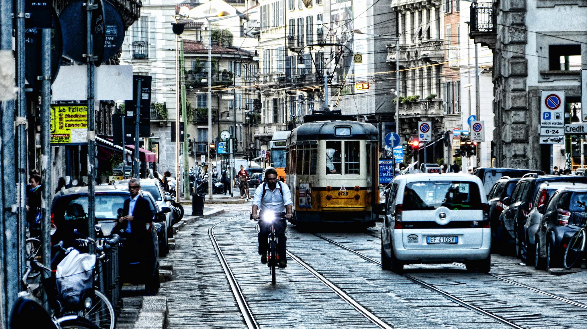 В Милане очень развита система общественного транспорта
