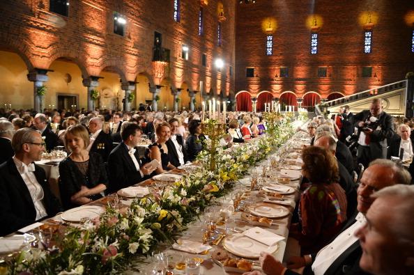 Банкет после вручения Нобелевской премии в Стокгольме