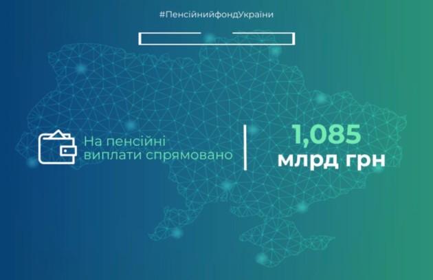 На пенсии выделили 1,085 млрд грн