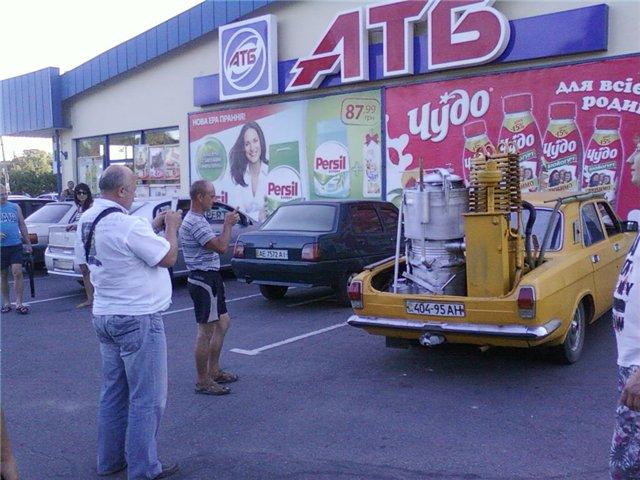 ГАЗ-24 тоже ездит на твердом топливе