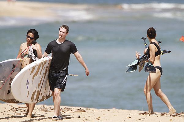 Марк Цукерберг отдыхает с женой