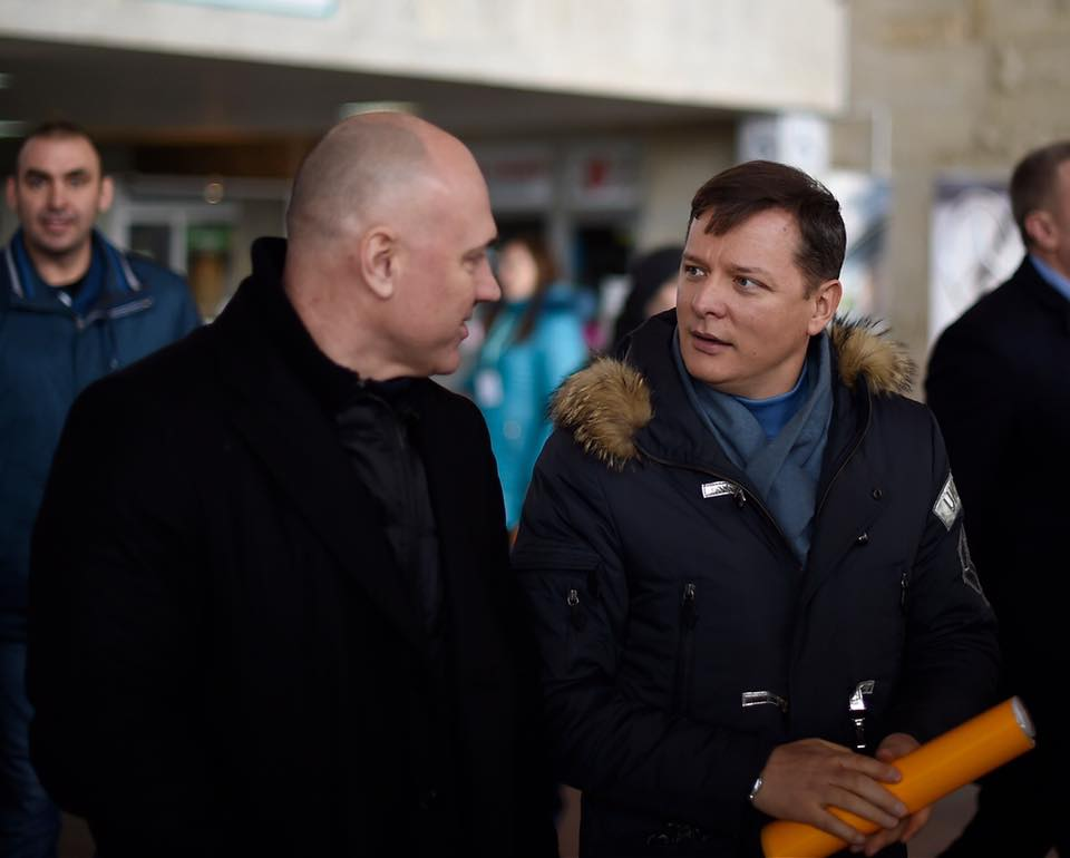 Олег Ляшко в куртке от Patrick Hellmann